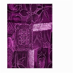 Purple Background Patchwork Flowers Large Garden Flag (Two Sides)