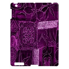 Purple Background Patchwork Flowers Apple Ipad 3/4 Hardshell Case