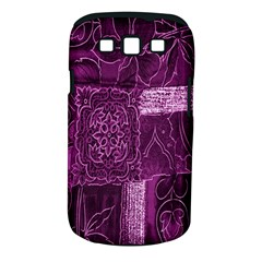 Purple Background Patchwork Flowers Samsung Galaxy S III Classic Hardshell Case (PC+Silicone)