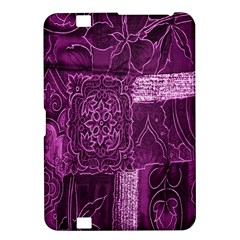 Purple Background Patchwork Flowers Kindle Fire HD 8.9
