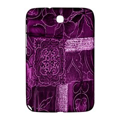 Purple Background Patchwork Flowers Samsung Galaxy Note 8 0 N5100 Hardshell Case