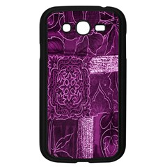 Purple Background Patchwork Flowers Samsung Galaxy Grand DUOS I9082 Case (Black)