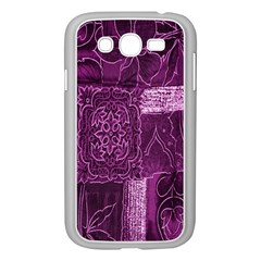 Purple Background Patchwork Flowers Samsung Galaxy Grand Duos I9082 Case (white)