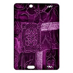 Purple Background Patchwork Flowers Amazon Kindle Fire Hd (2013) Hardshell Case