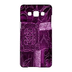 Purple Background Patchwork Flowers Samsung Galaxy A5 Hardshell Case