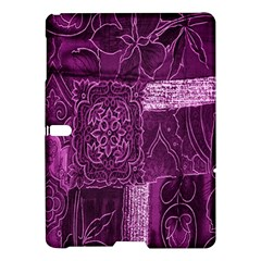 Purple Background Patchwork Flowers Samsung Galaxy Tab S (10 5 ) Hardshell Case