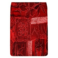 Red Background Patchwork Flowers Flap Covers (S)