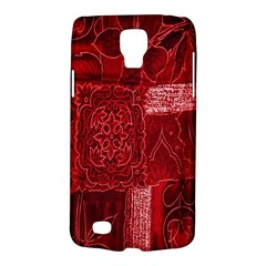 Red Background Patchwork Flowers Galaxy S4 Active