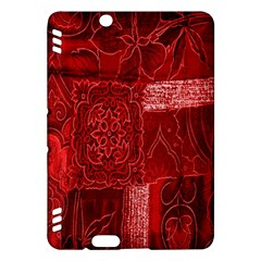 Red Background Patchwork Flowers Kindle Fire Hdx Hardshell Case