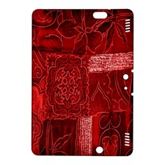 Red Background Patchwork Flowers Kindle Fire Hdx 8 9  Hardshell Case