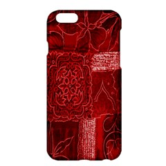 Red Background Patchwork Flowers Apple Iphone 6 Plus/6s Plus Hardshell Case