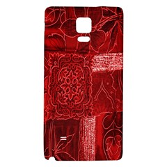 Red Background Patchwork Flowers Galaxy Note 4 Back Case