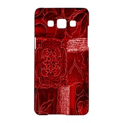 Red Background Patchwork Flowers Samsung Galaxy A5 Hardshell Case