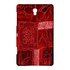Red Background Patchwork Flowers Samsung Galaxy Tab S (8 4 ) Hardshell Case