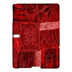 Red Background Patchwork Flowers Samsung Galaxy Tab S (10 5 ) Hardshell Case