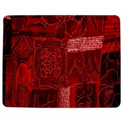 Red Background Patchwork Flowers Jigsaw Puzzle Photo Stand (rectangular)