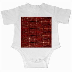 Rust Red Zig Zag Pattern Infant Creepers