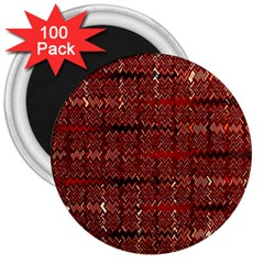 Rust Red Zig Zag Pattern 3  Magnets (100 pack)