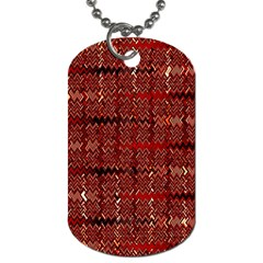 Rust Red Zig Zag Pattern Dog Tag (two Sides)