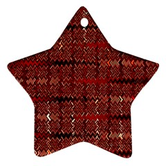 Rust Red Zig Zag Pattern Star Ornament (Two Sides)