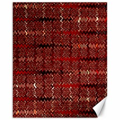 Rust Red Zig Zag Pattern Canvas 16  X 20