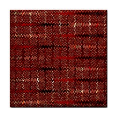 Rust Red Zig Zag Pattern Face Towel