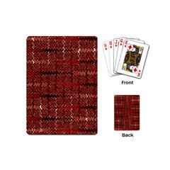 Rust Red Zig Zag Pattern Playing Cards (mini)