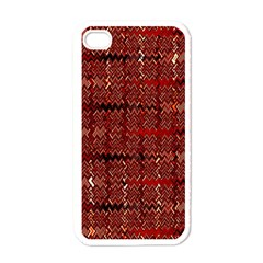 Rust Red Zig Zag Pattern Apple iPhone 4 Case (White)