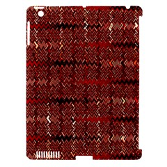 Rust Red Zig Zag Pattern Apple Ipad 3/4 Hardshell Case (compatible With Smart Cover)