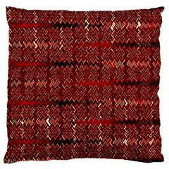 Rust Red Zig Zag Pattern Large Cushion Case (two Sides)