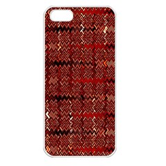 Rust Red Zig Zag Pattern Apple iPhone 5 Seamless Case (White)