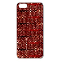 Rust Red Zig Zag Pattern Apple Seamless iPhone 5 Case (Clear)