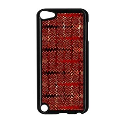 Rust Red Zig Zag Pattern Apple iPod Touch 5 Case (Black)