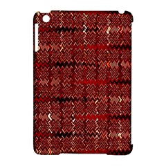 Rust Red Zig Zag Pattern Apple Ipad Mini Hardshell Case (compatible With Smart Cover)