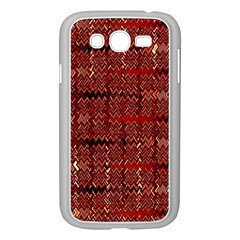 Rust Red Zig Zag Pattern Samsung Galaxy Grand Duos I9082 Case (white)