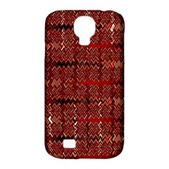 Rust Red Zig Zag Pattern Samsung Galaxy S4 Classic Hardshell Case (PC+Silicone)