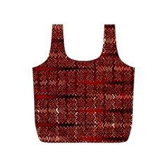 Rust Red Zig Zag Pattern Full Print Recycle Bags (s)