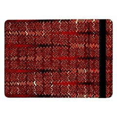 Rust Red Zig Zag Pattern Samsung Galaxy Tab Pro 12.2  Flip Case