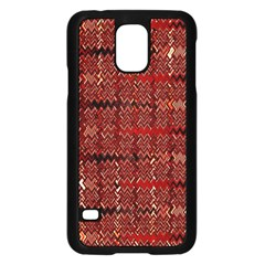 Rust Red Zig Zag Pattern Samsung Galaxy S5 Case (Black)