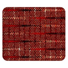 Rust Red Zig Zag Pattern Double Sided Flano Blanket (small)