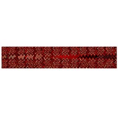 Rust Red Zig Zag Pattern Flano Scarf (large)