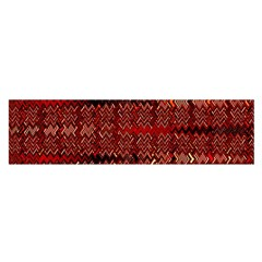 Rust Red Zig Zag Pattern Satin Scarf (Oblong)