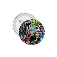 Vintage Horror Collage Pattern 1.75  Buttons