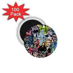 Vintage Horror Collage Pattern 1 75  Magnets (100 Pack)