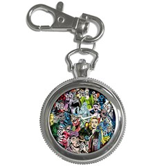 Vintage Horror Collage Pattern Key Chain Watches