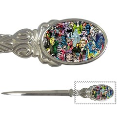 Vintage Horror Collage Pattern Letter Openers