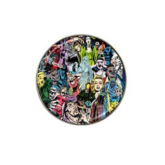 Vintage Horror Collage Pattern Hat Clip Ball Marker (10 pack)