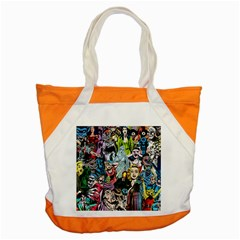 Vintage Horror Collage Pattern Accent Tote Bag