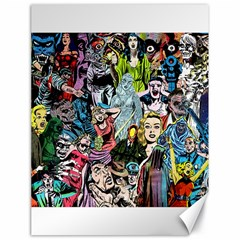 Vintage Horror Collage Pattern Canvas 18  X 24