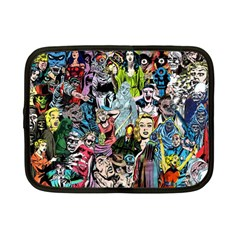 Vintage Horror Collage Pattern Netbook Case (small)